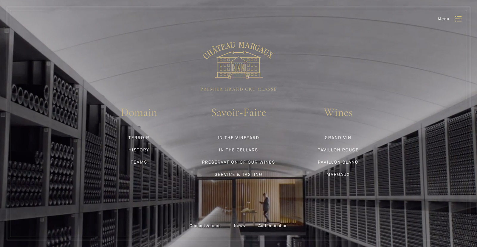The website for Château Margaux