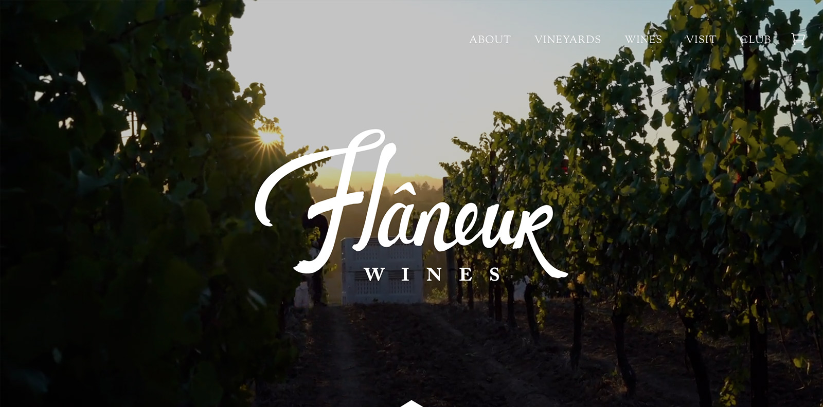 Flaneur Wines's website