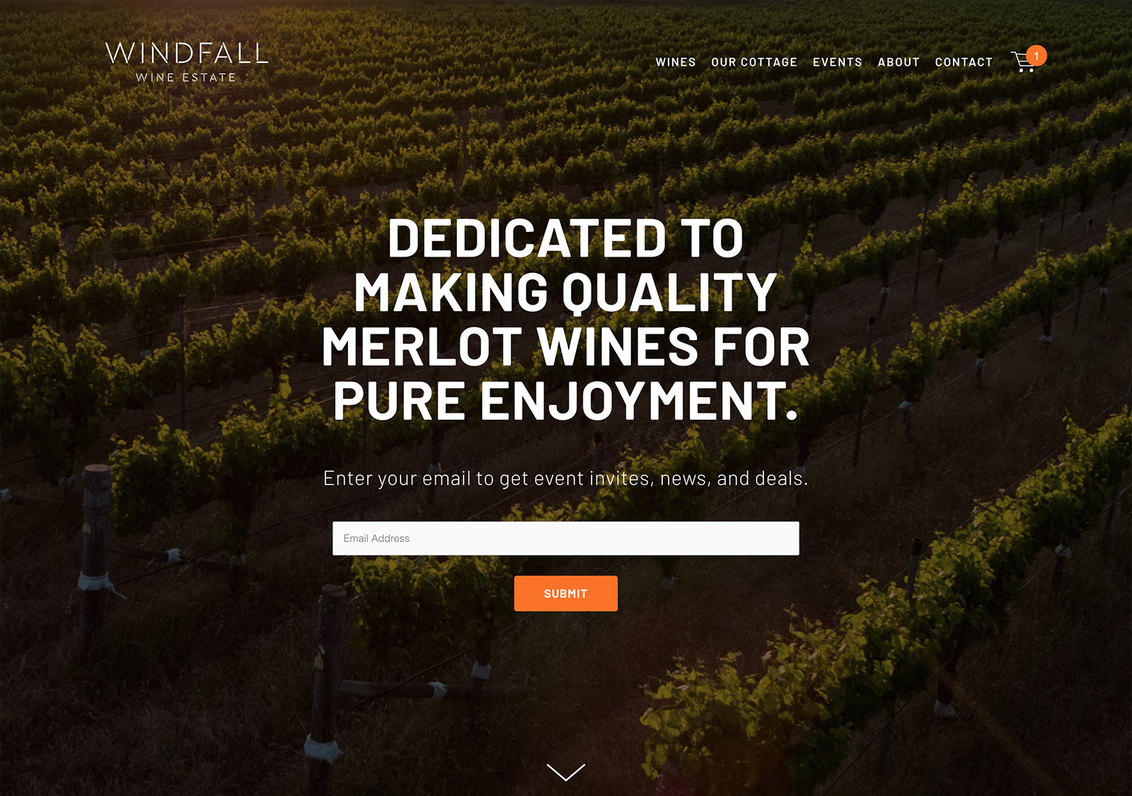 Windfall Wine Estate's Website